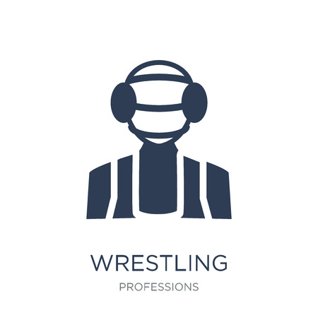 Wrestling icon. Trendy flat vector Wrestling icon on white background from Professions collection, vector illustration can be use for web and mobile, eps10