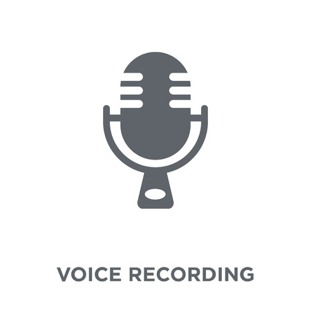 Voice recording icon. Voice recording design concept from  collection. Simple element vector illustration on white background.