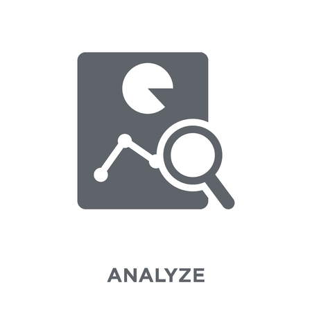 Analyze icon. Analyze design concept from  collection. Simple element vector illustration on white background. Illustration