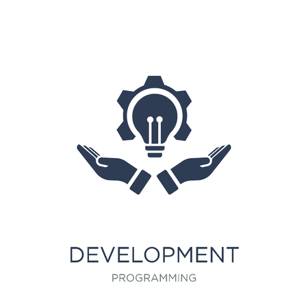 Development icon. Trendy flat vector Development icon on white background from Programming collection, vector illustration can be use for web and mobile, eps10 Illustration