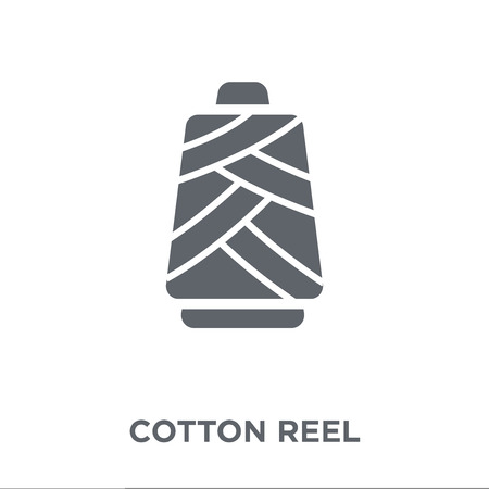 cotton reel icon. cotton reel design concept from Sew collection. Simple element vector illustration on white background.