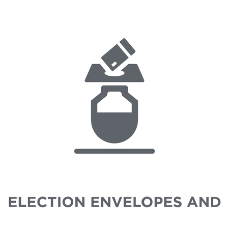 Election envelopes and box icon. Election envelopes and box design concept from Political collection. Simple element vector illustration on white background.