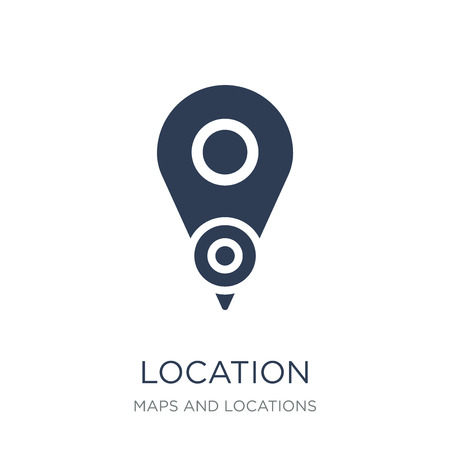 Location icon. Trendy flat vector Location icon on white background from Maps and Locations collection, vector illustration can be use for web and mobile, eps10