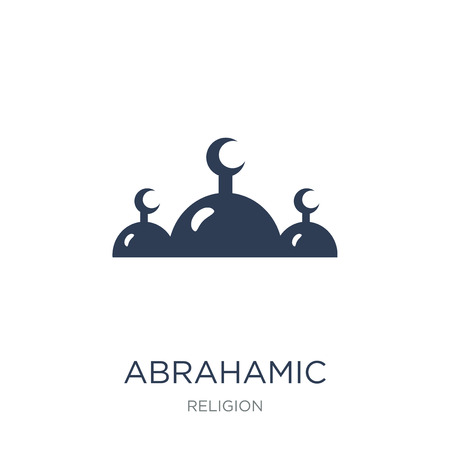 Abrahamic icon. Trendy flat vector Abrahamic icon on white background from Religion collection, vector illustration can be use for web and mobile, eps10