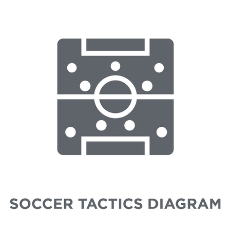 Soccer tactics diagram icon. Soccer tactics diagram design concept from Productivity collection. Simple element vector illustration on white background. Ilustração