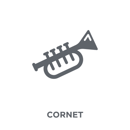 cornet icon. cornet design concept from Music collection. Simple element vector illustration on white background. Illustration