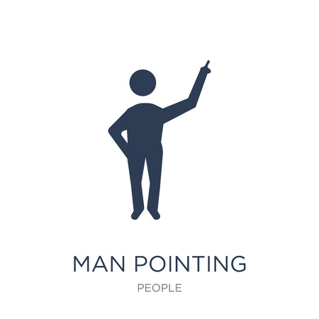 Man pointing icon. Trendy flat vector Man pointing icon on white background from People collection, vector illustration can be use for web and mobile, eps10
