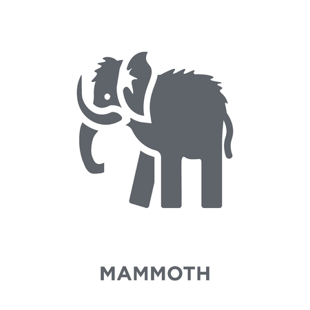 Mammoth icon. Mammoth design concept from  collection. Simple element vector illustration on white background. Foto de archivo - 112370127
