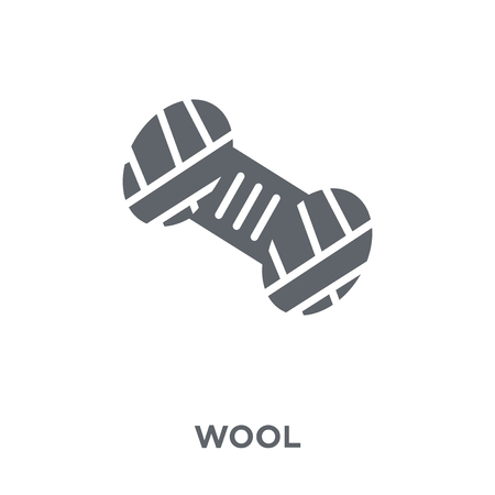 Wool icon. Wool design concept from  collection. Simple element vector illustration on white background.