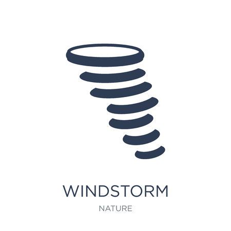 Windstorm icon. Trendy flat vector Windstorm icon on white background from nature collection, vector illustration can be use for web and mobile, eps10 Illustration