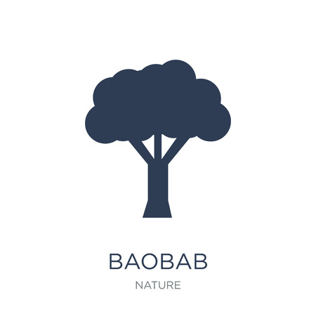 Baobab icon. Trendy flat vector Baobab icon on white background from nature collection, vector illustration can be use for web and mobile, eps10