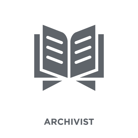 Archivist icon. Archivist design concept from Museum collection. Simple element vector illustration on white background.