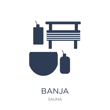 Banja icon. Trendy flat vector Banja icon on white background from sauna collection, vector illustration can be use for web and mobile, eps10 Иллюстрация