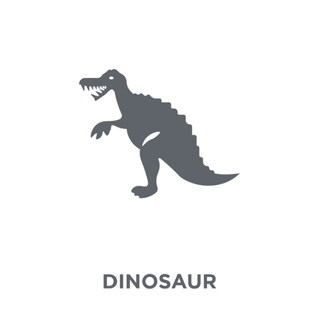 Dinosaur icon. Dinosaur design concept from  collection. Simple element vector illustration on white background. Çizim