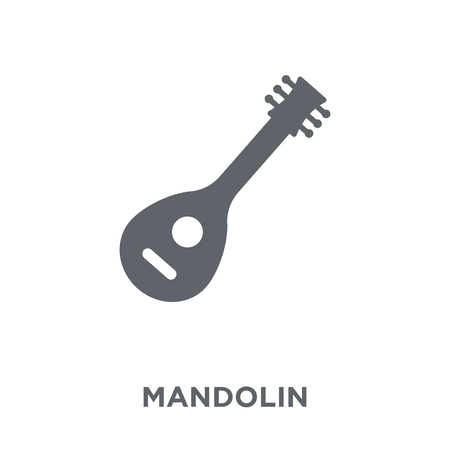 Mandolin icon. Mandolin design concept from Music collection. Simple element vector illustration on white background. 일러스트