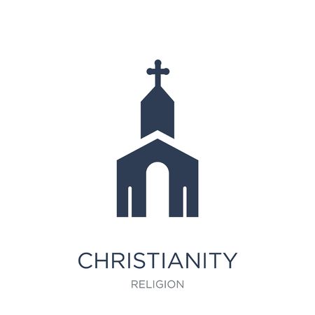 Christianity icon. Trendy flat vector Christianity icon on white background from Religion collection, vector illustration can be use for web and mobile, eps10