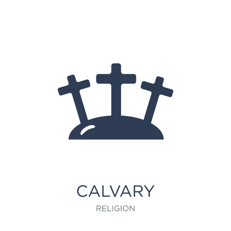 Calvary icon. Trendy flat vector Calvary icon on white background from Religion collection, vector illustration can be use for web and mobile, eps10