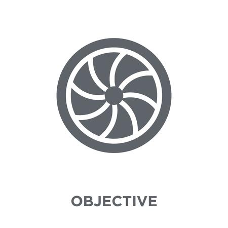 Ikona celu. Obiektywna koncepcja projektowa z kolekcji. Prosty element ilustracji wektorowych na białym tle.