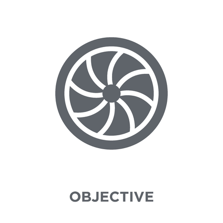 Objective icon. Objective design concept from  collection. Simple element vector illustration on white background. Çizim