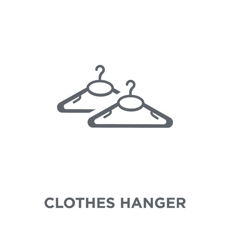 Clothes hanger icon. Clothes hanger design concept from  collection. Simple element vector illustration on white background.