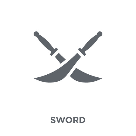 Sword icon. Sword design concept from  collection. Simple element vector illustration on white background. Stock Vector - 112373302