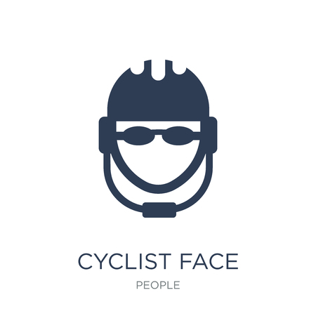 Cyclist face icon. Trendy flat vector Cyclist face icon on white background from People collection, vector illustration can be use for web and mobile, eps10