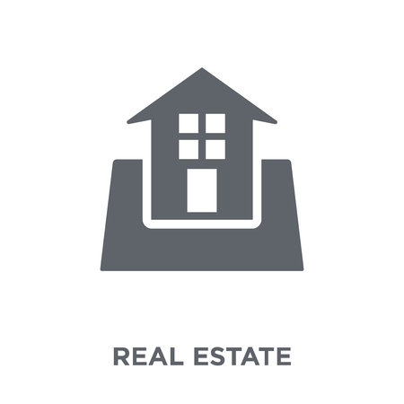 Real estate icon. Real estate design concept from  collection. Simple element vector illustration on white background. Illustration
