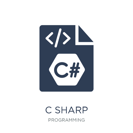 C sharp icon. Trendy flat vector C sharp icon on white background from Programming collection, vector illustration can be use for web and mobile, eps10