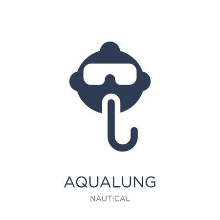 Aqualung icon. Trendy flat vector Aqualung icon on white background from Nautical collection, vector illustration can be use for web and mobile, eps10 Ilustrace