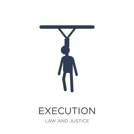 Execution icon. Trendy flat vector Execution icon on white background from law and justice collection, vector illustration can be use for web and mobile, eps10 Stock Illustratie