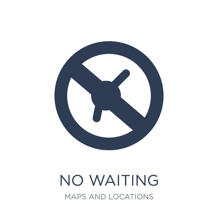 No waiting icon. Trendy flat vector No waiting icon on white background from Maps and Locations collection, vector illustration can be use for web and mobile, eps10