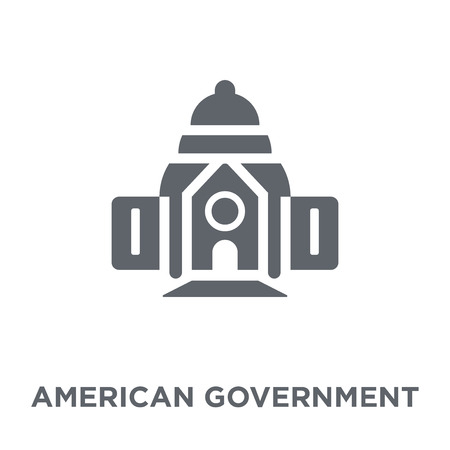 American government building icon. American government building design concept from Political collection. Simple element vector illustration on white background. Illustration