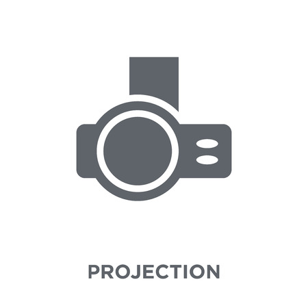 Projection icon. Projection design concept from  collection. Simple element vector illustration on white background. Archivio Fotografico - 112414891