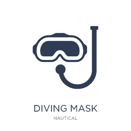 Diving mask icon. Trendy flat vector Diving mask icon on white background from Nautical collection, vector illustration can be use for web and mobile, eps10