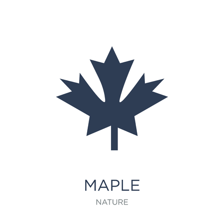 Maple icon. Trendy flat vector Maple icon on white background from nature collection, vector illustration can be use for web and mobile, eps10