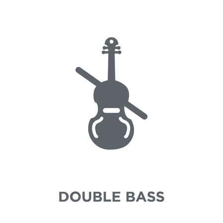 Double bass icon. Double bass design concept from Music collection. Simple element vector illustration on white background.