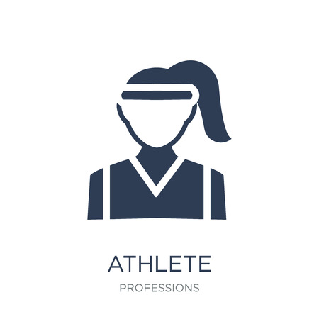 athlete icon. Trendy flat vector athlete icon on white background from Professions collection, vector illustration can be use for web and mobile, eps10 Illustration