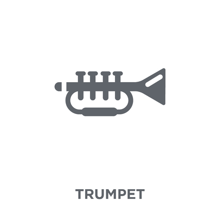 Trumpet icon. Trumpet design concept from collection. Simple element vector illustration on white background.