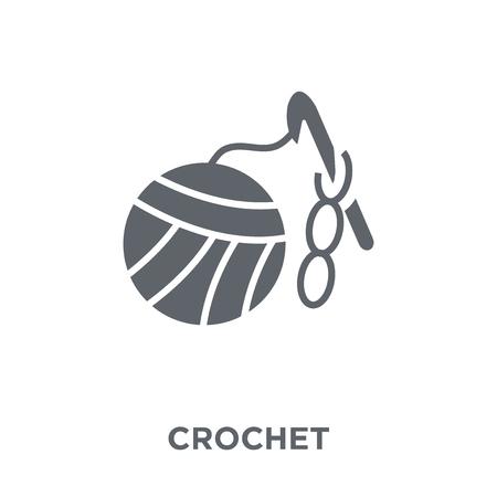 Icône de crochet. Concept de design au crochet de la collection. Illustration vectorielle élément simple sur fond blanc. Vecteurs