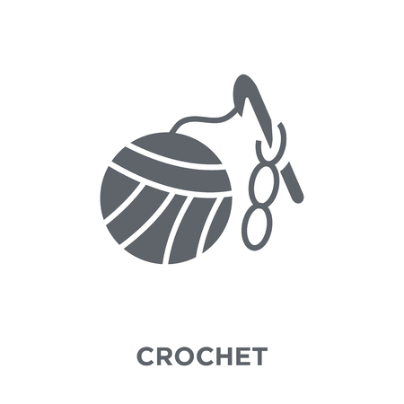Crochet icon. Crochet design concept from  collection. Simple element vector illustration on white background.