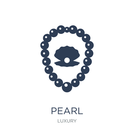 Pearl icon. Trendy flat vector Pearl icon on white background from Luxury collection, vector illustration can be use for web and mobile, eps10