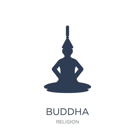 Buddha icon. Trendy flat vector Buddha icon on white background from Religion collection, vector illustration can be use for web and mobile, eps10