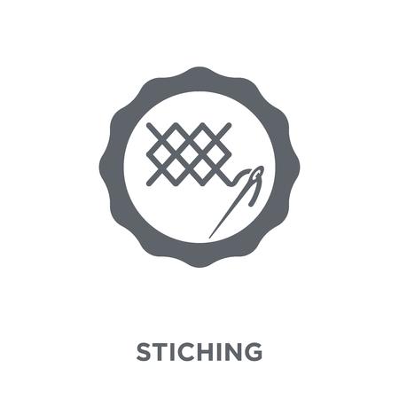 Icône de couture. Concept de design de couture de la collection Sew. Illustration vectorielle élément simple sur fond blanc.