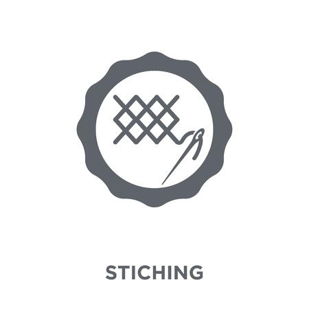 Stiching icon. Stiching design concept from Sew collection. Simple element vector illustration on white background.  イラスト・ベクター素材