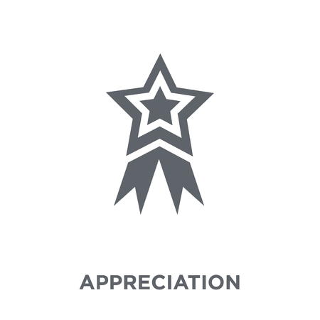 Appreciation icon. Appreciation design concept from  collection. Simple element vector illustration on white background.