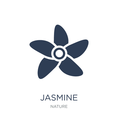 Jasmine icon. Trendy flat vector Jasmine icon on white background from nature collection, vector illustration can be use for web and mobile, eps10 Illustration