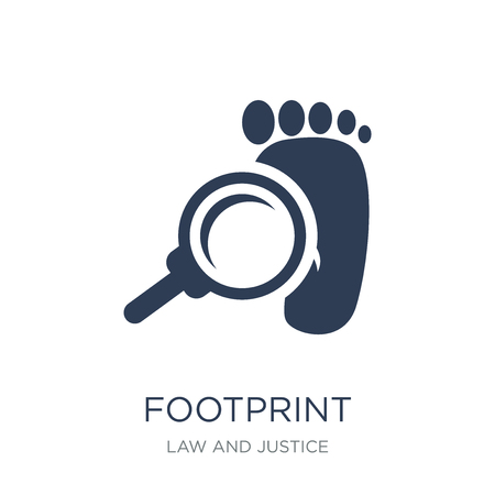 Footprint icon. Trendy flat vector Footprint icon on white background from law and justice collection, vector illustration can be use for web and mobile, eps10
