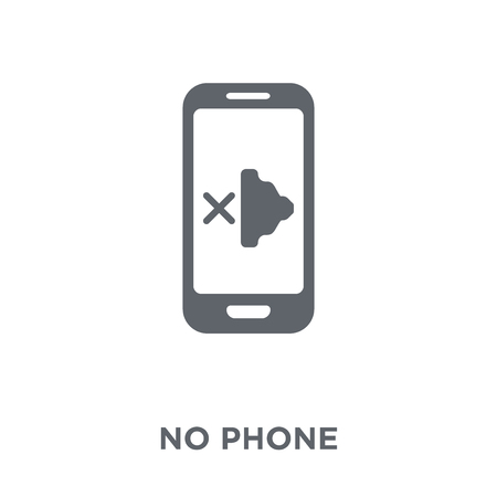 No phone icon. No phone design concept from  collection. Simple element vector illustration on white background. Stock Vector - 112415266