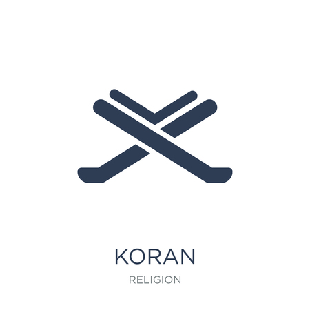 Koran icon. Trendy flat vector Koran icon on white background from Religion collection, vector illustration can be use for web and mobile, eps10