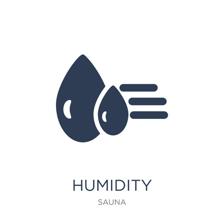 Humidity icon. Trendy flat vector Humidity icon on white background from sauna collection, vector illustration can be use for web and mobile, eps10 Foto de archivo - 112415272